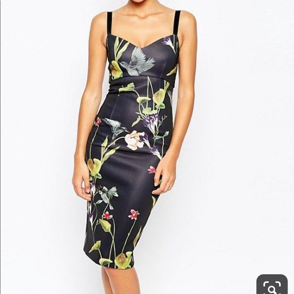 Ted Baker London Dresses & Skirts - Ted Baker London Lisa hummingbird midi dress